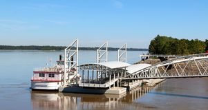 The Tunica River Queen steam boat Stock Images