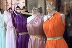 Tunics. The tunics are at a greek market Stock Image