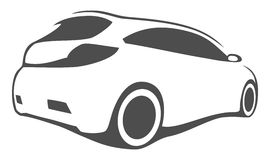 Tuning car silhouette. For print or for site Stock Image