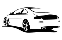 Tuning car silhouette. Car silhouette for print or website Royalty Free Stock Images