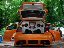 Tuning car Volkswagen Golf Royalty Free Stock Photo