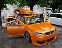 Tuning car Volkswagen Golf Stock Photography