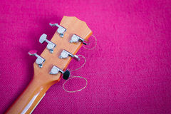 Tuning keys of guitar Stock Photos
