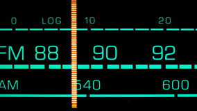 Tuning into 89 MHz FM Stock Photo