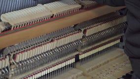 Tuning piano. Close up shot of tuning piano.  stock video