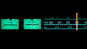 Tuning radio. Showing the dials for FM royalty free stock images