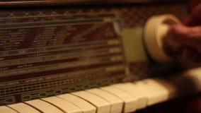 Tuning A Retro Radio stock video