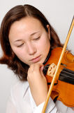 Tuning violin Royalty Free Stock Photo