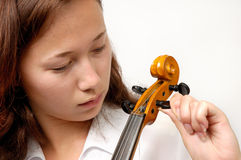 Tuning Violin Royalty Free Stock Image