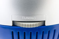Tuning volume control wheel Royalty Free Stock Image