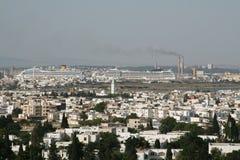 Tunis. Bird-eye view of Tunis, Tunisia Royalty Free Stock Photos