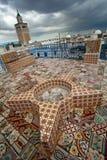 Tunis. Terrace of Medina in Tunis Stock Photography