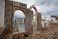 Tunis. Terrace of Medina in Tunis Royalty Free Stock Photo