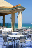 Tunis Cafe. Architecture in national traditions of Tunis Royalty Free Stock Photos