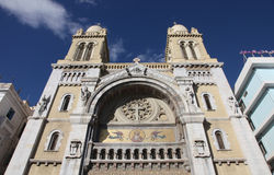 Tunis cathedral Stock Photos