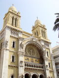 Tunis Cathedral. The Cathedral of St Vincent de Paul is a Roman Catholic cathedral in Tunis Stock Image