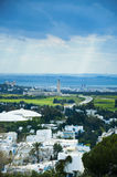 Tunis city view from Sidi Bou Said Royalty Free Stock Photo