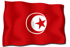 Tunis Flag Royalty Free Stock Photography