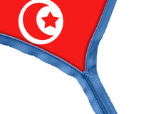 Tunis flag under zipper Stock Photos
