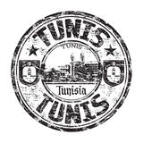 Tunis grunge rubber stamp Royalty Free Stock Photography