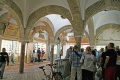 Tunis market. Tourists in the old suq (market) of tunis Royalty Free Stock Photos