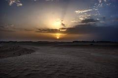 Tunis, putting Sun Royalty Free Stock Photo