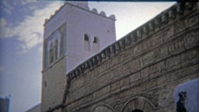 TUNIS, TUNISIA 1972: Moroccan ancient old town part of the port city. stock video footage