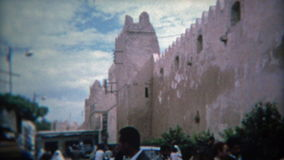 TUNIS, TUNISIA 1972: Tunis ancient city scenes marketplace hustle and bustle. stock video footage