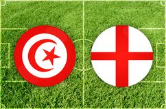 Tunis vs England football match Stock Photography