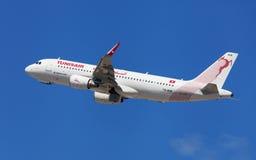 Tunisair Airbus A320 Images libres de droits