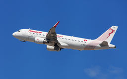 Tunisair Airbus A320 Royalty Free Stock Images