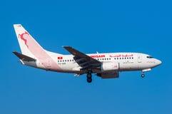 Tunisair Boeing 737 Imágenes de archivo libres de regalías