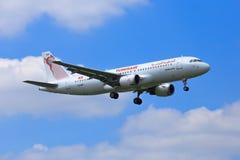 Tunisair flygbuss A320 Arkivbild