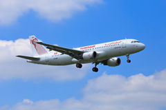Tunisair-Luchtbus A320 Stock Fotografie