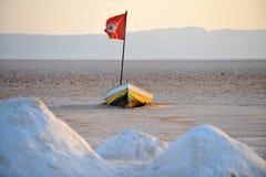 Tunisia. Dried up salt lake Chott El Jerid, Tunisia Stock Images