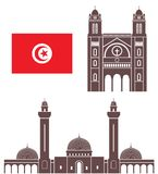tunisia royaltyfri illustrationer