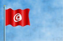 Tunisia. National flag of Tunisia Royalty Free Stock Images