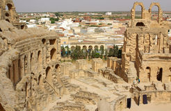 TUNISIA, AFRICA - August 03, 2012: Coliseum in El-Jem in summer Royalty Free Stock Photo