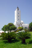TUNISIA, AFRICA - August 02, 2012: Mosque in Sidi Bou Said  in s Royalty Free Stock Images