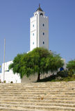 TUNISIA, AFRICA - August 02, 2012: Mosque in Sidi Bou Said  in s Stock Photo