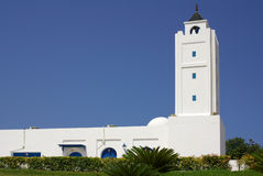 TUNISIA, AFRICA - August 02, 2012: Mosque in Sidi Bou Said  in s Stock Images