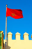 Tunisia in the blue sky  colour  battlements  wave Stock Image