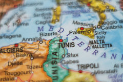Tunisia country map . Royalty Free Stock Photography