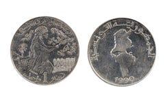 Tunisia 1 dinar,1990 Royalty Free Stock Image