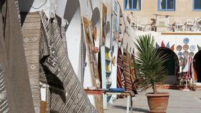 Tunisia, Douz, Bazaar. Market place in douz, tunisia stock footage