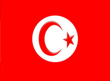 Tunisia flag Stock Photography