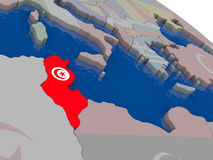 Tunisia with flag Stock Photo