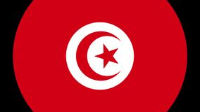 Tunisia Flag Transition 4K stock footage