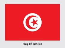 Tunisia Flag Vector Banner Stock Photography