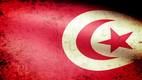 Tunisia Flag Waving, grunge look. Tunisia Flag Waving grunge look, video footage stock video